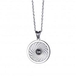 Energie-Schutz-Kreis Erde 18mm Silber 925